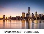 sunrise over the lower manhattan | Shutterstock . vector #198818807