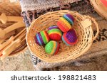Colorful Hacky Sacks In A...