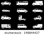 vehicles icon set | Shutterstock .eps vector #198844427