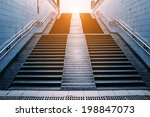 stairs of subway station beijing | Shutterstock . vector #198847073