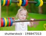 little toddler girl having fun... | Shutterstock . vector #198847313