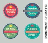 set of vintage retro badge | Shutterstock .eps vector #198855143