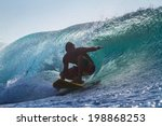 picture of surfing a wave at... | Shutterstock . vector #198868253