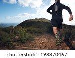 trail running man on mountain... | Shutterstock . vector #198870467