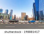 dubai  uae   march 30  traffic... | Shutterstock . vector #198881417