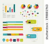 collection of colorful flat... | Shutterstock .eps vector #198881963