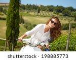 young beautiful italian woman... | Shutterstock . vector #198885773