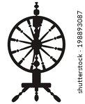dark silhouette of a vintage... | Shutterstock .eps vector #198893087