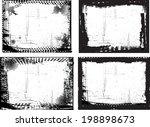 set of grunge frames  | Shutterstock .eps vector #198898673