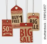 price tag  sale coupon  voucher.... | Shutterstock .eps vector #198914357