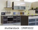 modern kitchen interior photo | Shutterstock . vector #19893322