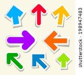 colorful vector paper arrows set | Shutterstock .eps vector #198947483
