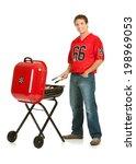 fans  football team fan grills...   Shutterstock . vector #198969053