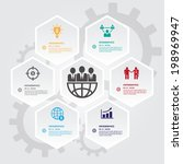 hexagons group modern business...