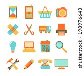 set of colorful flat icons...
