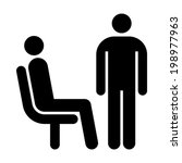 seating and standing man.... | Shutterstock .eps vector #198977963