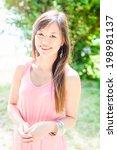 summer girl portrait. asian...   Shutterstock . vector #198981137