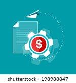 set of flat design concept... | Shutterstock .eps vector #198988847