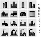 building icons set | Shutterstock .eps vector #198993113