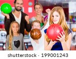 parents playing with children... | Shutterstock . vector #199001243