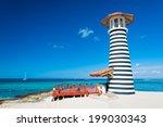 dominican republic ocean bar | Shutterstock . vector #199030343