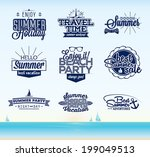retro summer typography design | Shutterstock .eps vector #199049513