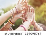 Stock photo close up of female hands 199095767