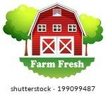 illustration of a barnhouse... | Shutterstock . vector #199099487