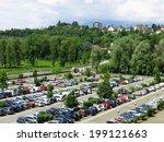 aerial parking lot outdoors... | Shutterstock . vector #199121663