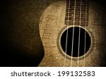 ukulele in wood texture... | Shutterstock . vector #199132583