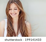 beautiful woman smiling | Shutterstock . vector #199141433