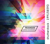 colorful triangles abstract... | Shutterstock .eps vector #199158593