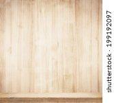 wooden shelf | Shutterstock . vector #199192097
