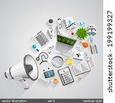 megaphone vector medical style. ... | Shutterstock .eps vector #199199327