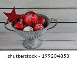 red christmas ornaments cup   Shutterstock . vector #199204853