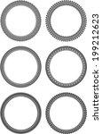 set of round frames | Shutterstock .eps vector #199212623