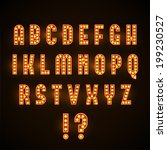 retro glowing font | Shutterstock .eps vector #199230527