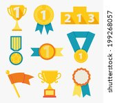 award icons  | Shutterstock .eps vector #199268057
