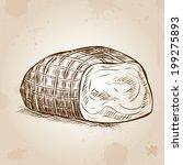 piece of ham. hand drawn... | Shutterstock .eps vector #199275893
