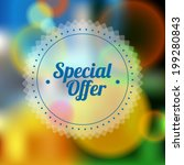 vintage sale discount special...   Shutterstock .eps vector #199280843