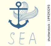 vector illustration with anchor | Shutterstock .eps vector #199293293