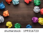 crumpled colorful paper on... | Shutterstock . vector #199316723