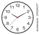 vector clock face  | Shutterstock .eps vector #199354277