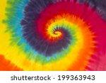 tie dye colors hippie swirl...   Shutterstock . vector #199363943