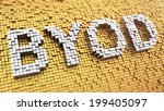 pixelated byod acronym made... | Shutterstock . vector #199405097
