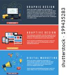 icons for adaptive web design ... | Shutterstock .eps vector #199435283