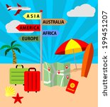 icons set of traveling ... | Shutterstock .eps vector #199451207