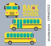 back to school vector... | Shutterstock .eps vector #199465313