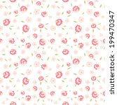 seamless floral pattern with... | Shutterstock .eps vector #199470347
