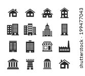 building icons set. raster... | Shutterstock . vector #199477043